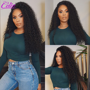 Image 4 - Celie Hair Curly Human Hair Wigs Kinky Curly Wig Pre Plucked With Baby Hair Lace Front Human Hair Wig 13x6 Curly Wig