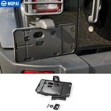 Mopai placa de licença para jeep wrangler jk 2007 up placa traseira do carro montado parte parafusos abridor garrafa decoração estilo do carro