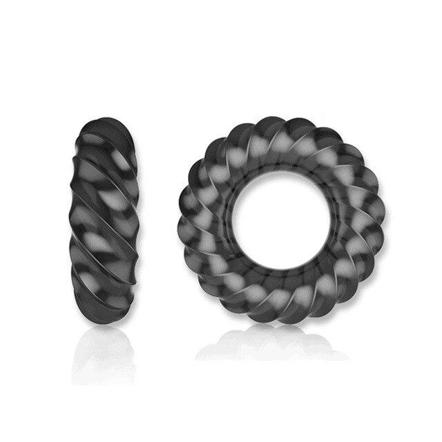Exvoïde Scrotum lier fort anneau de pénis médical Silicone élastique anneau de coq retard éjaculation jouets sexuels pour hommes érection