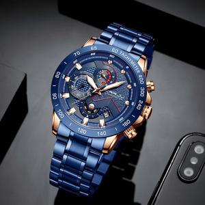 Image 2 - CRRJU degli uomini di Modo di orologi di Lusso Top di Marca Cronografo Da Polso uomo Impermeabile di Sport orologio Al Quarzo da uomo orologio relogio masculino