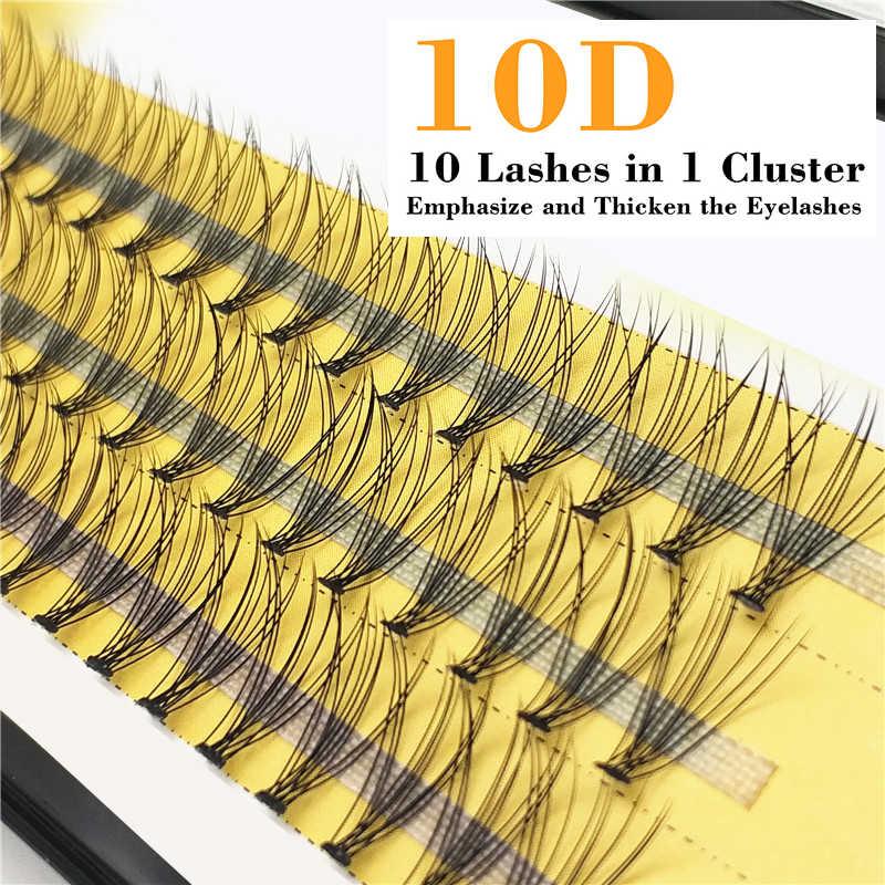 1 kutu büyük kapasiteli 60 demetleri 6d 10D kirpik uzantıları 0.1mm kalınlığı gerçek vizon şerit kirpikler bireysel kirpik doğal tarzı