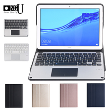 "Funda de teclado Bluetooth para Huawei Mediapad T5 10 2018 AGS2 L09/W09/L03 Touchpad teclado para Huawei T5 10,1 ""Tablet Cove soporte"
