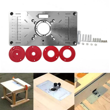 Multifunctional Router Table Insert Plate Woodworking Benches Aluminium Wood Router Trimmer Models Engraving Machine