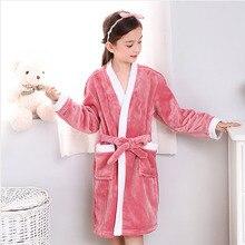Пижамы для мальчиков и девочек, зимний детский банный халат, флисовые халаты, теплая детская пижама, банный халат для подростков, одежда для плавания