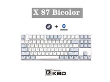 Teclado capacitivo de niz x87 teclado bluetooth modo duplo chave completa programável, dois-cor pbt keycap e rgb