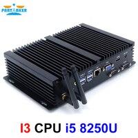 Причастником I3 промышленный ПК Intel Core i5 8250U 2 RS232 COM безвентиляторный мини ПК windows 10 linux HDMI VGA HTPC Intel Core i5 мини ПК