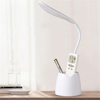 цена USB Rechargeable LED Desk Lamp Touch Dimming Adjustment Table Lamp for Children Kids Reading Study Bedside Bedroom Living Room онлайн в 2017 году