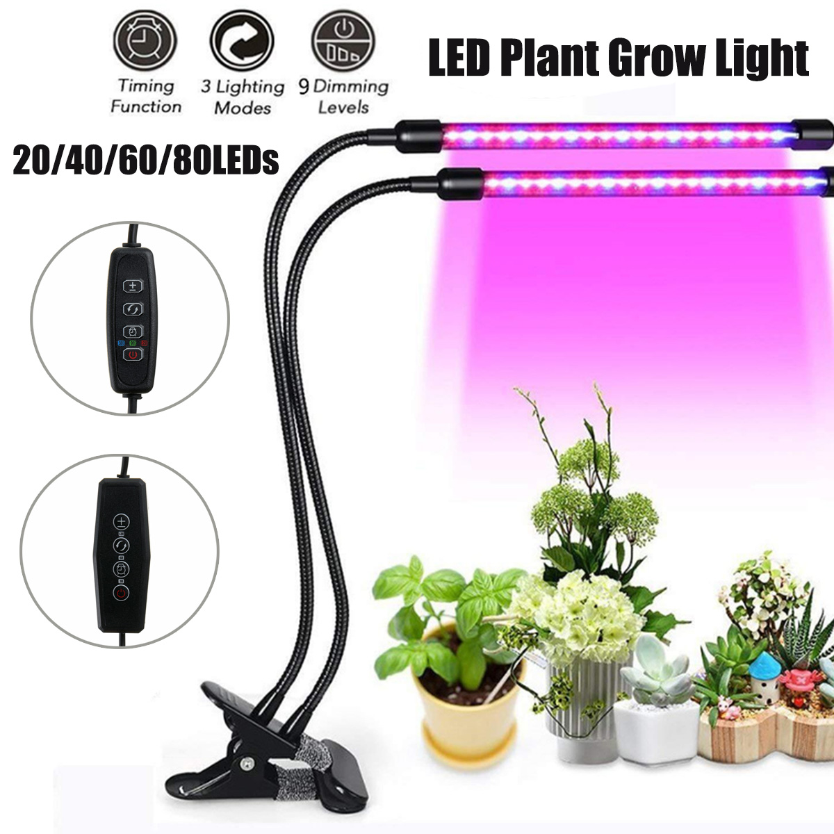 LED Grow Light USB 10W 20W 30W 40W LED Full Spectrum Phyto Lamp Phyto-Lamp For Indoor Vegetable Flowers Plant Growth Lighting