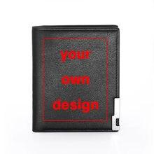 Votre propre Design Logo de marque/image impression personnalisée pour hommes, porte-monnaie de crédit, bricolage