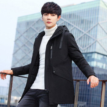 School student cotton parkas young men hoodedcotton coat boy's new fashion jacket for youth M to 4XL
