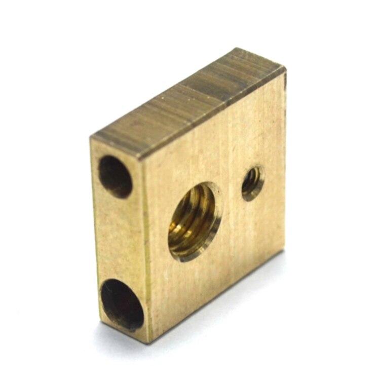 Ultimaker 3 UM3 Brass 3D Printer Heater Block
