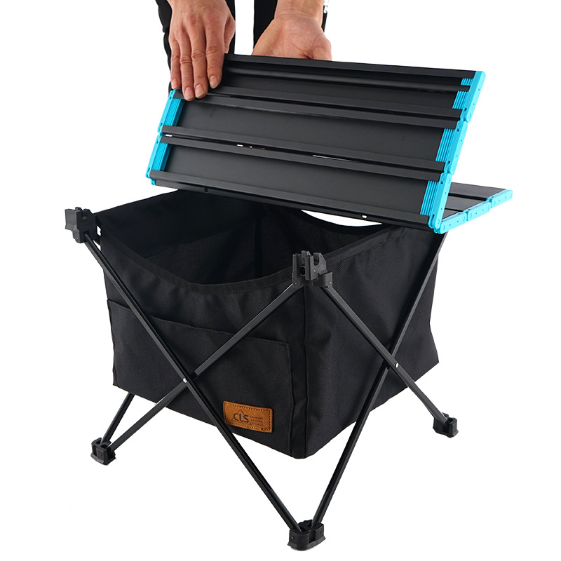 Outdoor Picnic Foldable Table Camping Desk With Waterproof Bowl Clothes Storage Bag