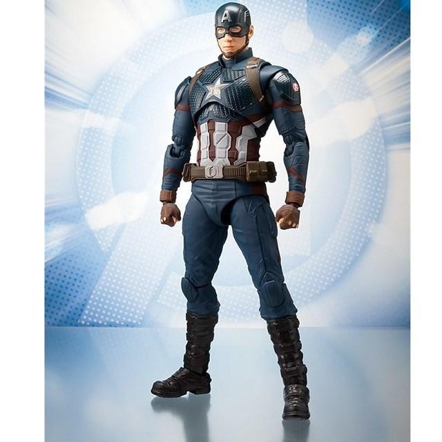 15CM Figuarts Avengers 4 Captain America Figure Civil War Steve PVC Action Figures Model PVC Collectible Toy Doll Gift