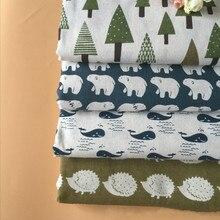 Печатная серия льняная хлопчатобумажная ткань из чистого хлопка фабричное кружево холст материал для текстильной наволочки скатерть sofacoverer