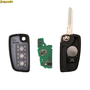 Image 5 - Jingyuqin Remote Car Key Fob Control 4A PCF7952E 433MHZ For Nissan Sylphy 2019 Bluebird Qashqai Kicks Tilda X Trail 3 Buttons