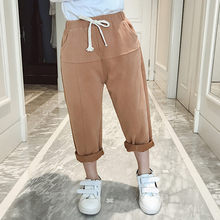 2019 Hot Sale Children Girls Harem Pants for Baby Trousers Kids Child Casual Brown Beige Colors 4-13T