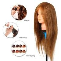 Парикмахер тренировка голова манекен голова настоящие волосы косметологическая кукла голова манекен голова практика голова-манекен блонд