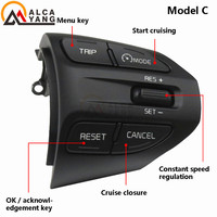 Steering Wheel Button For KIA K2 RIO 2017 2018 2019 2020 2021 RIO X LINE Buttons Bluetooth Phone Cruise Control Volume .