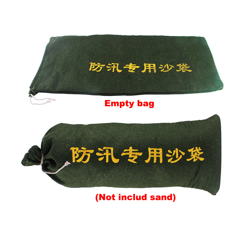 10 Pieces/lot Empty Flood Control Sand Bag Thick Canvas Sandbag For Property Home Drawstring Sandbags