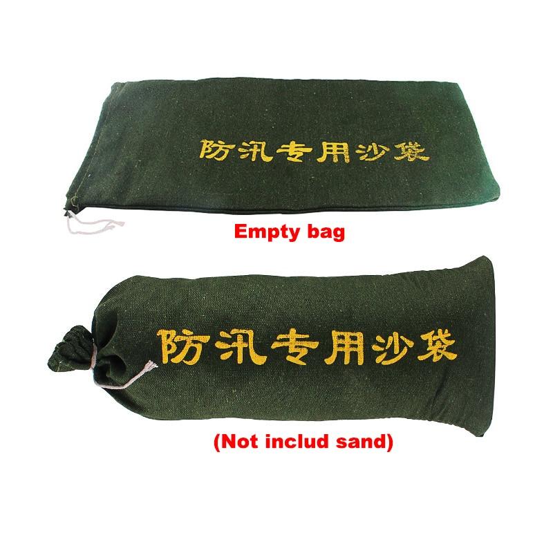 10 Pieces/lot Empty Flood Control Sand Bag Thick Canvas Sandbag For Property Home Drawstring Sandbags
