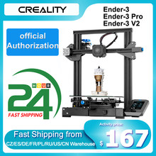 Creality 3d Ender-3/Ender-3 pro/Ender-3 v2 impressora 3d diy kit auto-montar com atualização currículo impressão meanwell fonte de alimentação