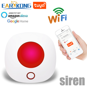 Wifi 433MHz Wireless Strobe Siren Sound and Light Siren 100dB for G30 W123 PG103 PG168 Home Security WIFI GSM Alarm Panel System(China)