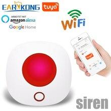 Wifi 433MHz kablosuz Strobe Siren ses ve ışık sireni 100dB için G50 W123 PG103 PG168 ev güvenlik WIFI GSM alarm paneli sistemi