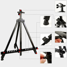 Portable Metal Easel Adjustable Sketch Travel Easel Thicken Triangle Aluminum Alloy Easel Sketch Drawing For Artist Art Supplies 32pcs professional drawing artist kit pencils sketch charcoal art craft with carrying bag tools
