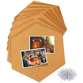 Tablero de corcho azulejos 8 paquete con parte posterior pegajosa completa, Mini tablones de anuncios de pared, tablero de pines-decoración para fotos, fotos, notas, objetivos, Dra