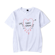 Harry Styles Tshirt Cotton Oversized T Shirt Men Fine Line Harajuku Tshirt Women Summer Short Sleeve