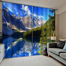 Blackout curtains blue sky lake 3d curtains 3d curtains new bay window balcony thickened windshield blackout curtains брюки sky lake sky lake mp002xb0079t