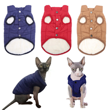 5 Colors Winter Sphynx Cat Jacket / Coat