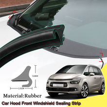 Car Rubber Seal Strip Windshied Spoiler Filler Protect Edge Weatherstrip Strips Car Accessories For Citroen C4 PICASSO 2014-2020