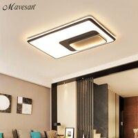 سقف ليد حديث الإضاءة مصابيح السقف مصابيح مستديرة/مربع/مستطيل تصميم السقف لغرفة المعيشة Led مصابيح المنزل في الأماكن المغلقة تركيبات