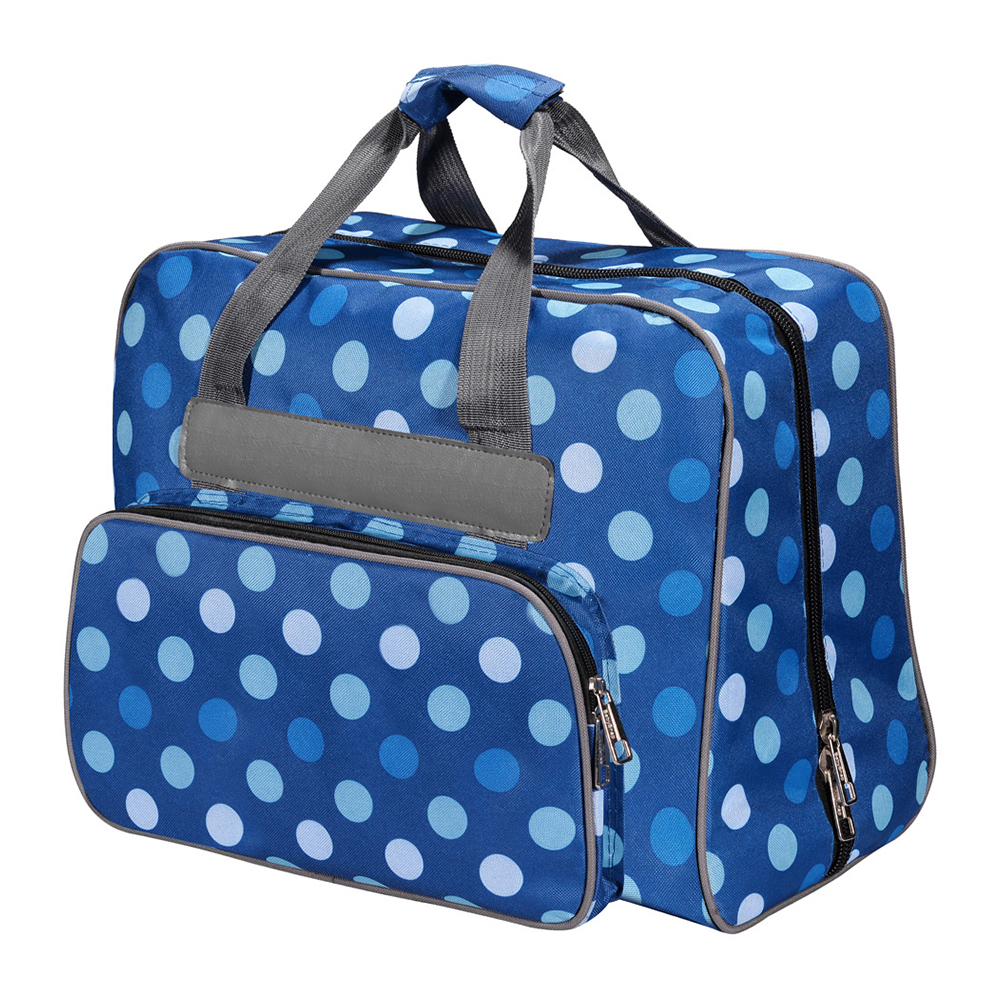 Oxford Cloth Fashion Dot Pattern Travel Storage Bags Large Capacity Portable Tote Multi-functional Sewing Machine Bag Useful