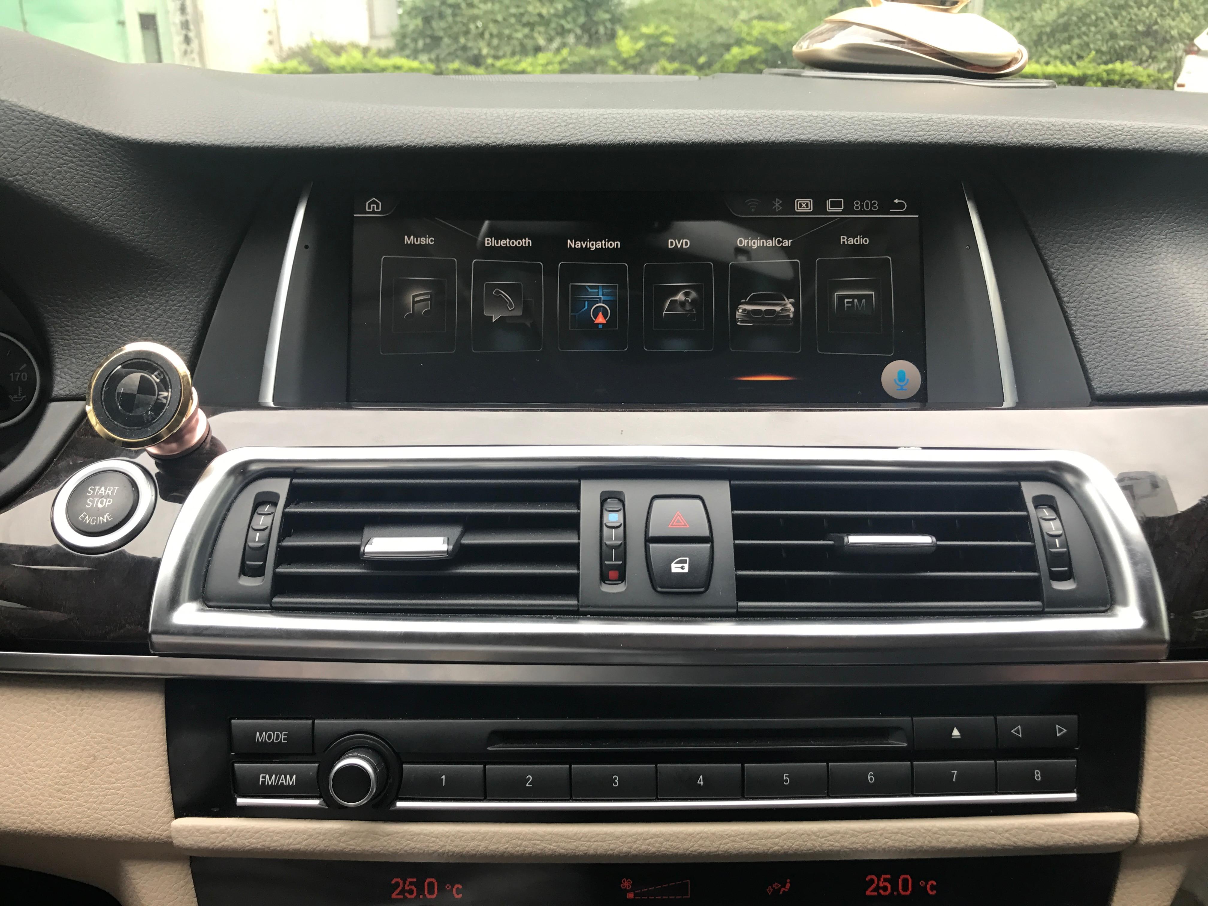 Lecteur multimédia de voiture Chogath 10.25 pouces système android Radio de voiture Navigation GPS pour BMW série 5 F10/F11 (2011-2012 CIC