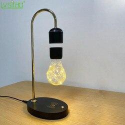 Lampe flottante noir lévitation ampoule Led magnétique flottant lampe de bureau nouveauté cadeaux sans fil Table de charge Led décor à la maison