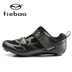 Buty TIEBAO 2019 New Arrival buty do jazdy na rowerze rower szosowy wyścigowy buty siateczki oddychająca jazda na rowerze trampki Triathlon jazdy męskie buty
