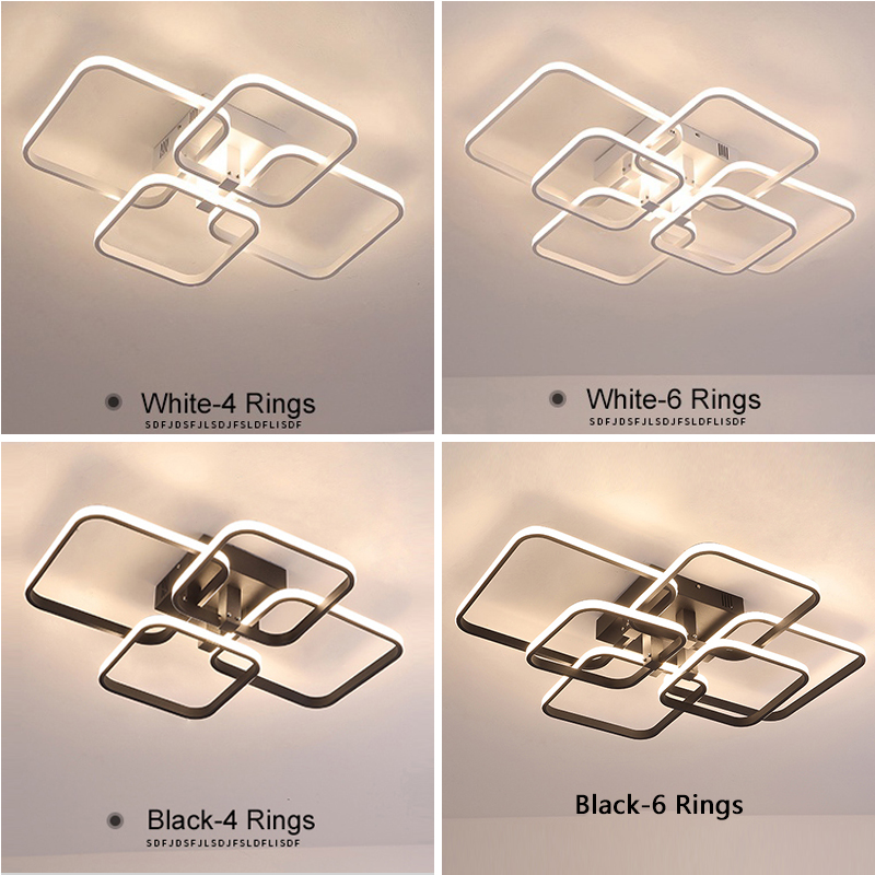 Modern LED Ceiling Light For Living Room Bedroom Dining Room Luminaires Circle Rings Ceiling Lamps Home Indoor Lighting Fixtures