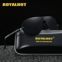 RoyalHot Polarized Aloy Shield Frame Sunglasses Men Women Driving Sun Glasses  Shades Oculos masculino Male 60015
