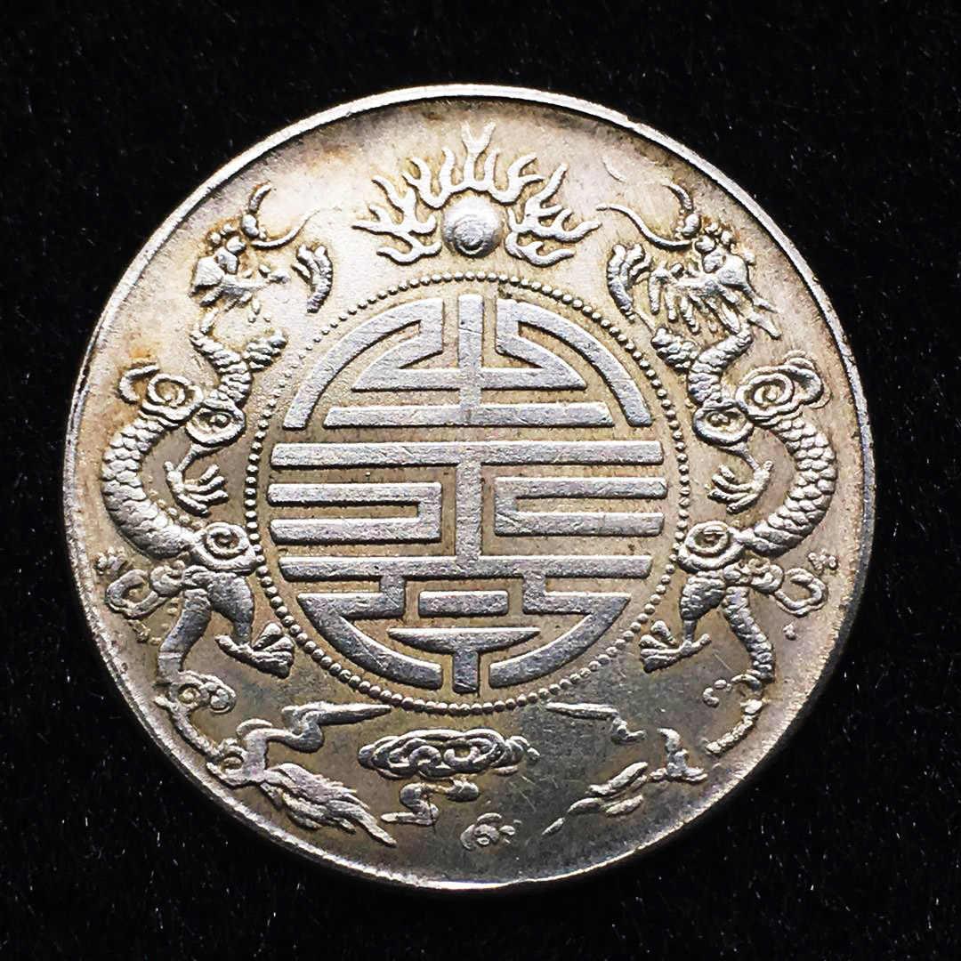 Trung Quốc Linh Vật Rồng Đồng Xu Rồng Bay Thực Sự Vàng Đồng Bạc Magic Đồng Tiền Ô Rô Euro Tiền Xu Sưu Tầm Monedas Quà Tặng Giáng Sinh