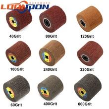 1Pc roue de polissage pour tréfilage Non tissé en Nylon brosse à lamelles abrasives pour tampon aigre 120x100mm 40/60/80/120/180/240/320/400/600