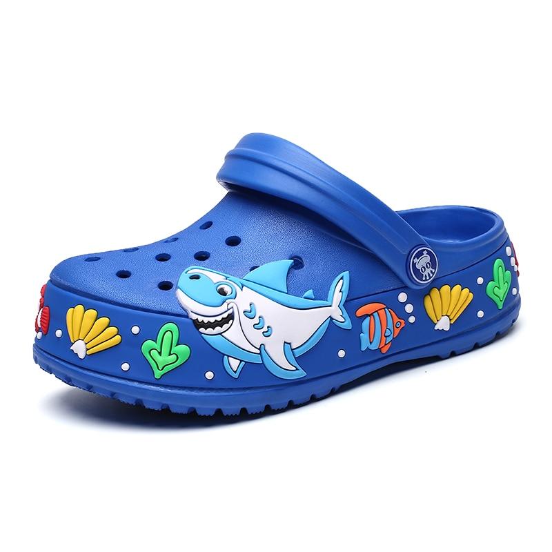 2020 New Fashion Children Garden Shoes Boys Cartoon Summer Slippers High Quality Kids Garden Children Clogs Boys Shoes A778