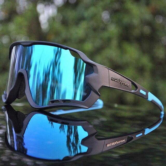 4 lente uv400 ciclismo óculos de sol polarizados ciclismo óculos para óculos de bicicleta óculos de ciclismo lentes do esporte 3