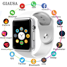 Bluetooth A1 Smart Watch Sport Wristwatch Support 2G SIM TF Camera Smartwatch With 16G Card for Android Phone PK DZ09 Q18 Y1 V8 цена