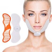 EMS yüz kaldırma masaj yüz zayıflama kas stimülatörü yüz masajı azaltmak soğuk lipoliz cihazı cilt kaldırma aracı jel pedleri ile V yüz