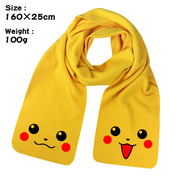 Original pokemon scarf Autumn and Winter Warm Knit anime Peripheral Unisex Hedging Plush dolls unisex Birthday Gifts