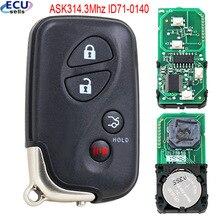 4 düğme akıllı uzaktan anahtar ASK314.3Mhz ID71 0140 kullanım Lexus ES350 IS250 IS350 GS300 600H 2007 2009