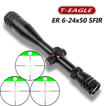 Riflescopes Hunting  6-24x50 Riflescope SFIR with level bubble Air Rifle Optics Red Dot Illuminated for PCP