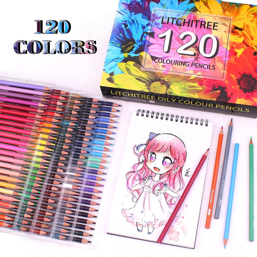 120 Colouring Pencils Pre-Sharpened Oil Based Assorted Colours Art Pencils set